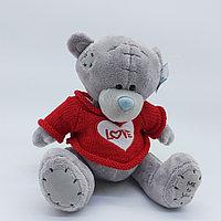 Мишка Тедди - 30 см (Серый красная кофточка)