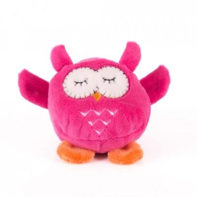 Мягкая игрушка Мячик - Розовая сова, 7 см.