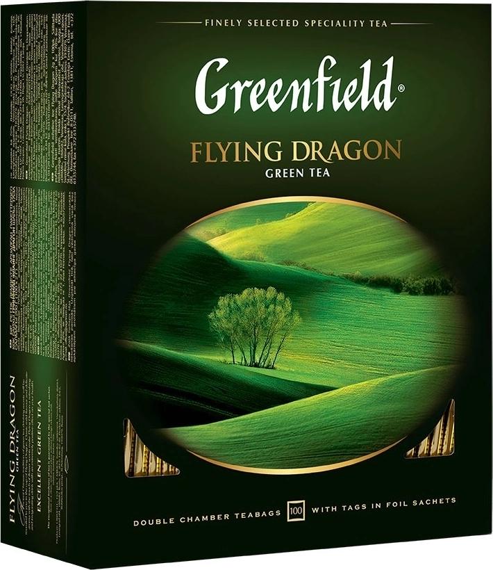 Чай Greenfield Flying Dragon, green tea (2x100х9)