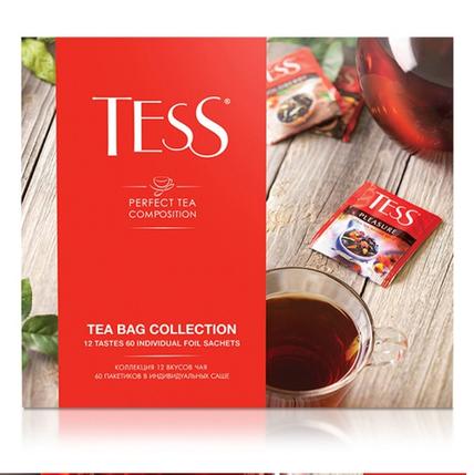 Набор чая TESS 12 видов, пакетированный, 60 пак/уп, фото 2