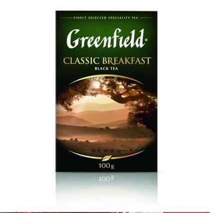 Чай черный Greenfield Classic Breakfast листовой 100г, фото 2