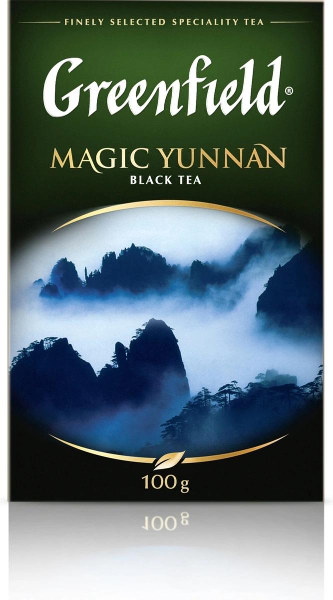 Чай Greenfield Magic Yunnan черный байховый 100 г