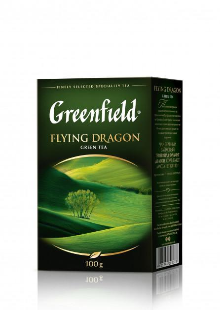 Чай Greenfield Flying Dragon зеленый крупнолистовой 100гр