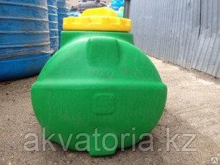 Емкость горизонтальная цилиндр 50 литров (зел)(575*450*400)