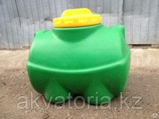 Емкость горизонтальная цилиндрическая 100 литров (зеленая)