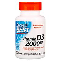 БАД Витамин D3, 2000 IU (180 капсул) Doctors Best