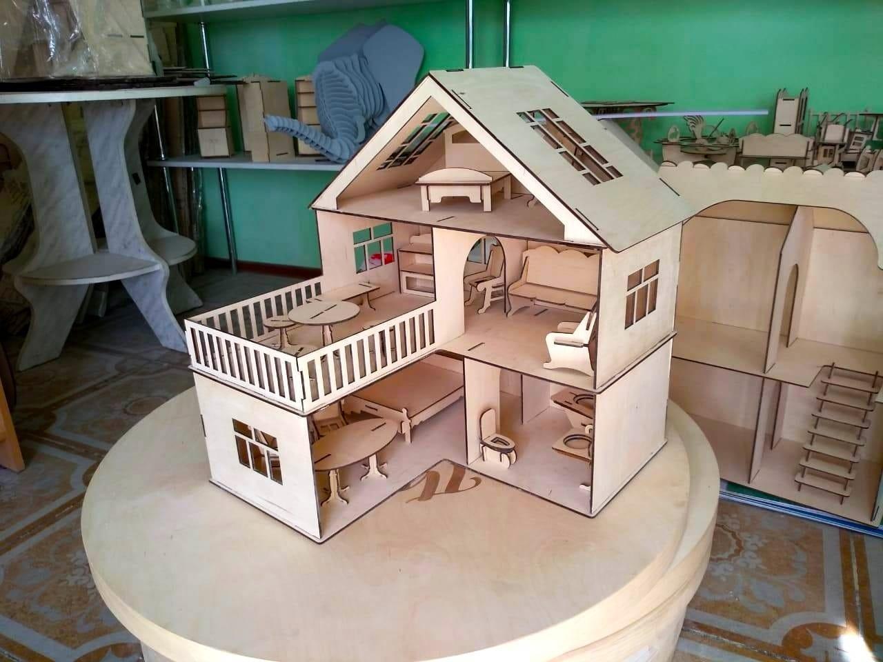 Кукольный эко домик для маленьких кукол