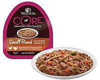 Влажный корм для собак мелких пород Wellness Core Savoury Medleys курица с индейкой, морковь и зеленая фасоль