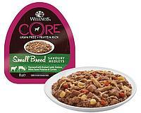 Влажный корм для собак мелких пород Wellness Core Savoury Medleys баранина с олениной, картофель с морковью