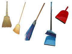Веники, мётла, совки, грабли, лопаты, наборы Лень