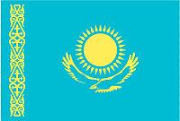 Государственный Флаг РК из полиэфирной ткани 1х2 м