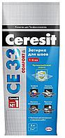 Ceresit затирка CE 33 Comfort Белый, 2 кг.