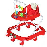 BAMBOLA Ходунки СЧИТАЛКА (8 колес,игрушки,муз) 6 шт в кор (62*53*60) RED красный