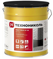 Мастика 20 кг №24 МГТН гидроизоляционная ТЕХНОНИКОЛЬ