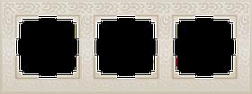 Рамка на 3 поста /WL05-Frame-03-ivory (слоновая кость)