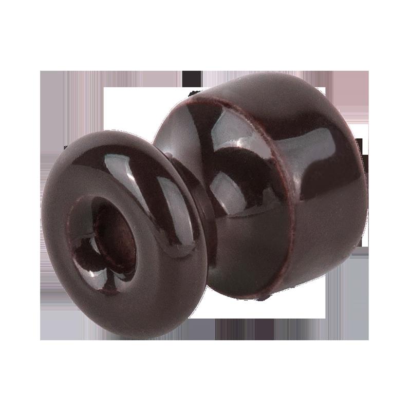 Комплект изоляторов с крепежом 10шт. /WL18-17-01 (коричневый) Ретро