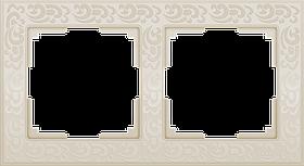 Рамка на 2 поста /WL05-Frame-02-ivory (слоновая кость)
