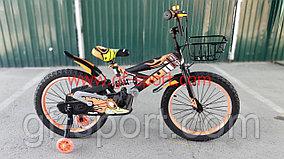 Велосипед Phillips с амортизатором оранжевый оригинал детский с холостым ходом 20 размер