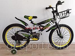 Велосипед Phillips с амортизатором хаки оригинал детский с холостым ходом 20 размер