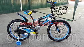 Велосипед Phillips с амортизатором синий оригинал детский с холостым ходом 20 размер