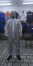 Костюм комбинезон одноразовый, ткань Спанбонд 60 гр., фото 3
