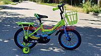 Велосипед Phoenix салатово - голубой оригинал детский с холостым ходом 14 размер