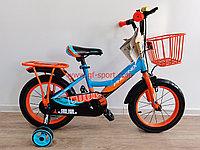 Велосипед Phoenix оранжево - голубой оригинал детский с холостым ходом 14 размер
