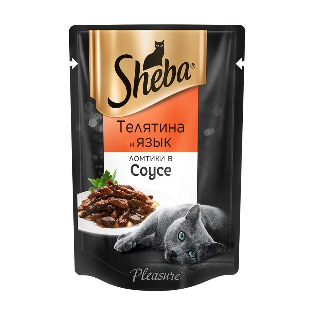 Влажный корм для кошек Шеба Телятина и язык