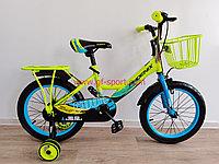 Велосипед Phoenix салатово - голубой оригинал детский с холостым ходом 16 размер