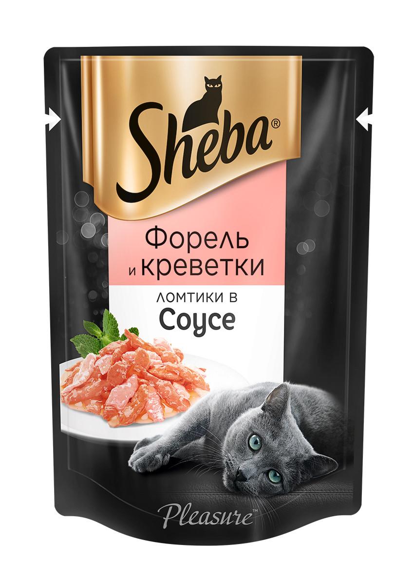 Влажный корм для кошек Шеба Форель и креветки