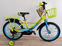 Велосипед Phoenix салатово - голубой оригинал детский с холостым ходом 18 размер