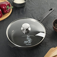 Сковорода «Традиция», d=22 см, стеклянная крышка, съёмная ручка