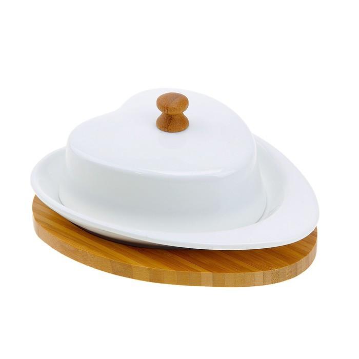 Маслёнка на подставке «Сердце»