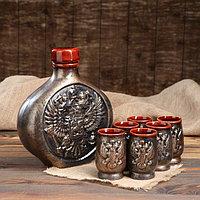 "Набор для вина ""Россия"", 7 предметов, 1,55 л, фото 1"