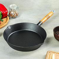 Сковорода «Эко», d=23 см, с 2 сливами, съёмная ручка, фото 1