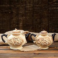 "Чайная пара ""Карачун"", под шамот, чайник 2 л/ 1.4 л"