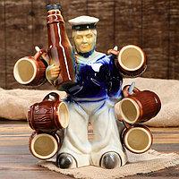 """Набор для вина """"Моряк с бутылкой"""", 7 предметов: штоф 0.75 л, рюмки 0.1л, фото 1"""