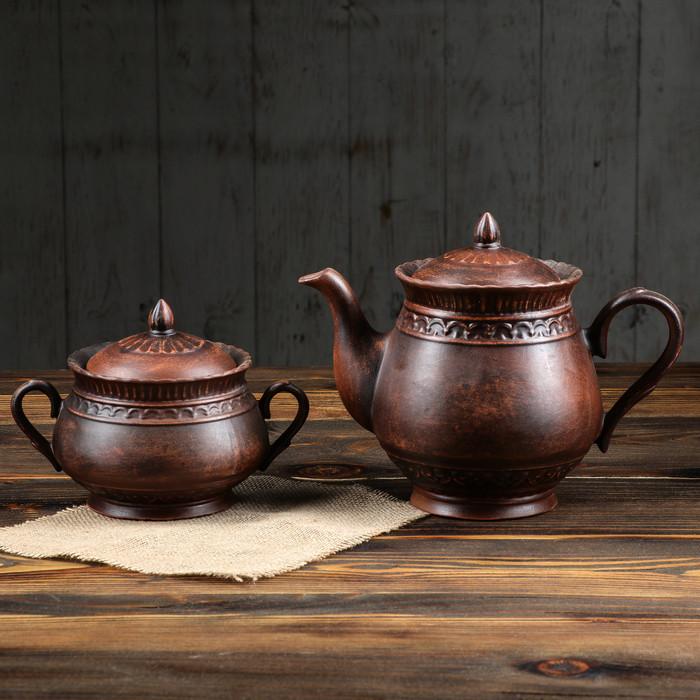 """Набор чайный """"Витязь"""" 2 предмета, гладкий"""