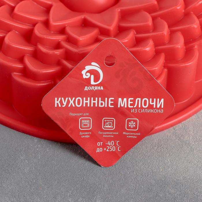 "Форма для выпечки 22 см ""Хризантема"", цвета МИКС - фото 2"