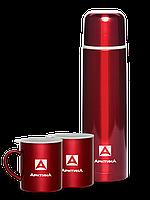 Термос для напитков 1 л+2 кружки 300мл