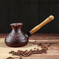 """Турка """"Резка"""" с деревянной ручкой, 0,5 л"""