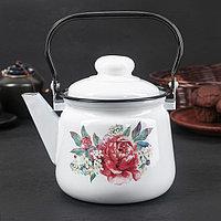 Чайник 1,5 л, эмалированная крышка, цвет МИКС, фото 1