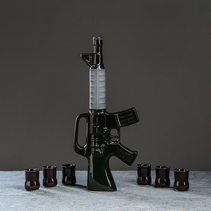 """Набор для вина """"Автомат М16"""", 7 предметов в наборе, 0,8 л/0,1 мл, микс"""
