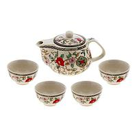 """Набор для чайной церемонии """"Цветение"""", 5 предметов: чайник 200 мл, чашка 30 мл, фото 1"""