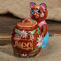 """Горшочек для мёда """"Медведь с бочкой"""", 0.15 л"""