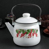 Чайник «Клубника», 2,5 л, эмалированная крышка, цвет МИКС