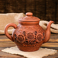 Чайник большой, лепка, 1,7 л, микс