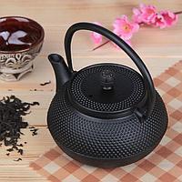 Чайник с ситом «Восточная ночь», 600 мл, цвет чёрный, с эмалированным покрытием внутри
