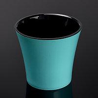 Кашпо со вставкой «Арте», 3,5 л, цвет мятно-чёрный