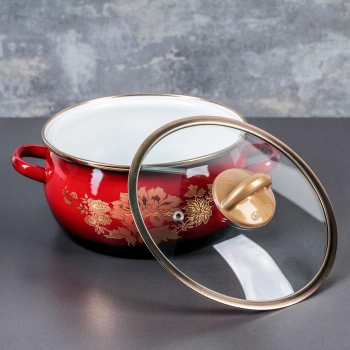 Набор кастрюль «Рубин», 3 шт: 2 л, 3 л, 4 л, стеклянные крышки - фото 5